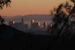 Downtown LA seen from the terrace, New Year's Day