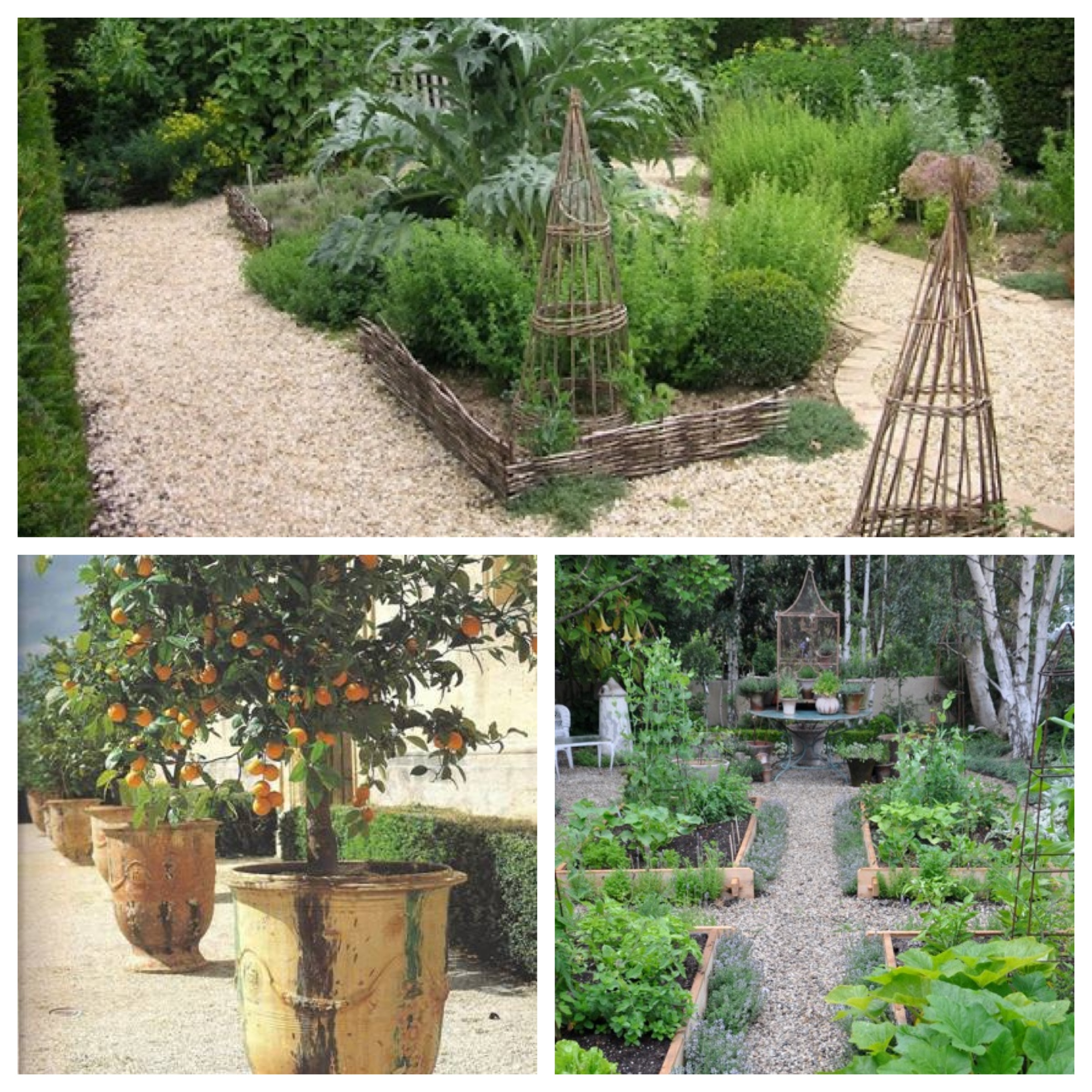 Terrace Kitchen Garden Kitchen Garden Belles Idees